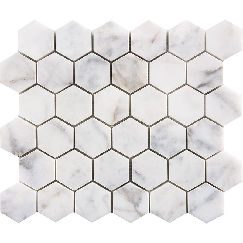 Calacatta Gold Mosaics Polished 2 Quot Hexagon Tirmar