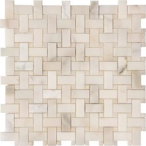calacatta verde 1x2x3_8 basketweave mosaic polished w-white onyx (1)