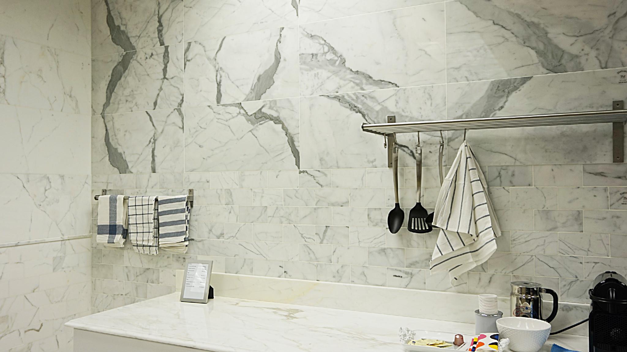 Chic and unrepeatable elegant Italian Statuario Marble Tirmar